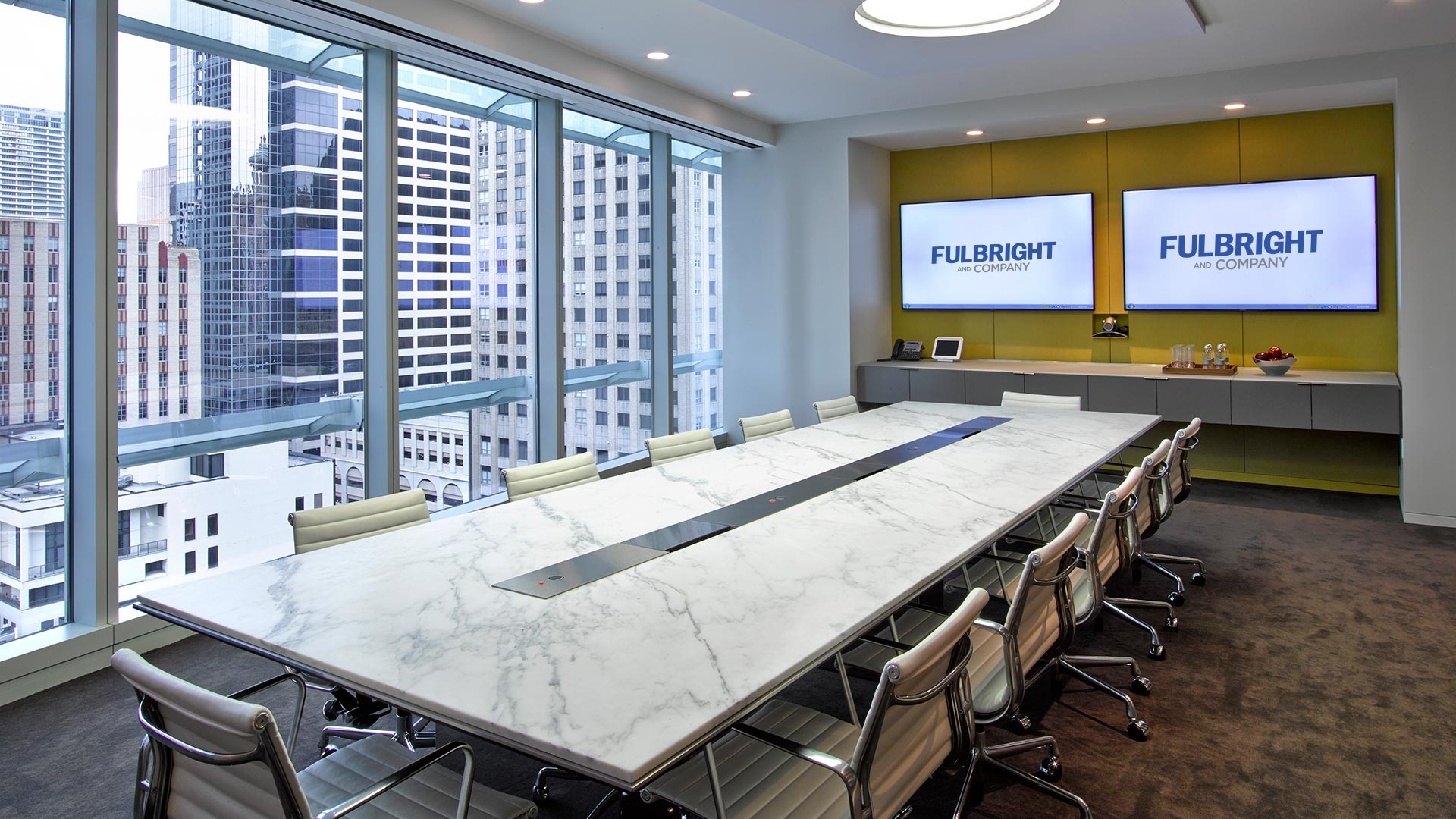 Custom Office Furniture Spring TX By Fulbright Company - Large white conference table