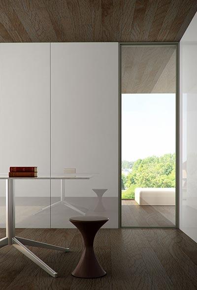 Glass Walls Architectural Interior Room